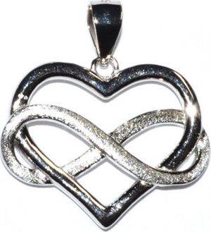 "3/4"" Infinity Heart sterling pendant"