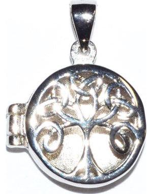 "3/4"" Celtic Tree of Life locket sterling pendant"