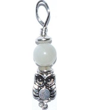 Owl pendant with moonstone bead