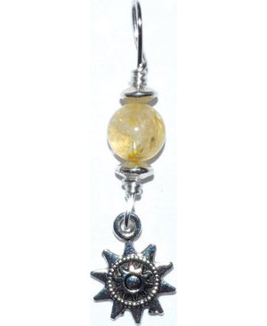 Sun pendant with citrine bead