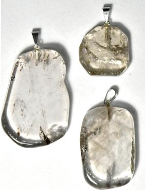 Smoky Quartz slice pendant