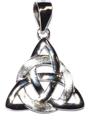 """5/8"""" Triquetra sterling pendant"""