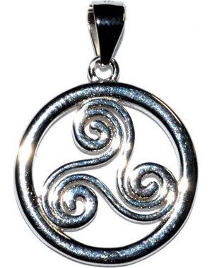 "5/8"" Trinity Spiral sterling pendant"