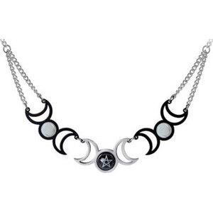 Tres Lunae necklace pewter