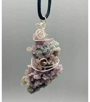 Agate, Grape wire wrapped