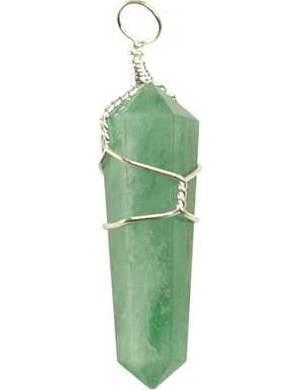 Green Aventurine Wire Wrapped Pendant