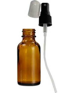 1oz Amber Bottle With Spray