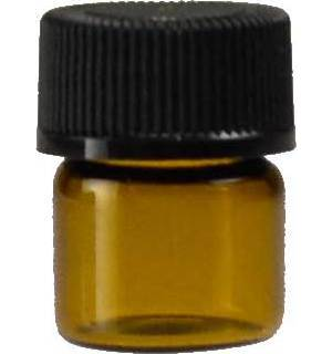 1/3dr Amber Bottle with Cap