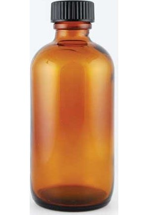 4oz Amber Bottle With Cap