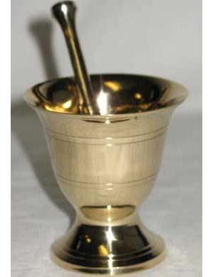 "2 3/4"" Brass Mortar & Pestle"