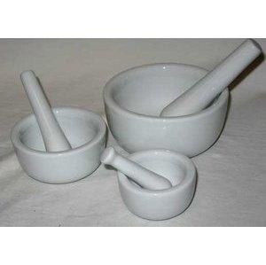 Mortar/Pestle Set Of 3 White