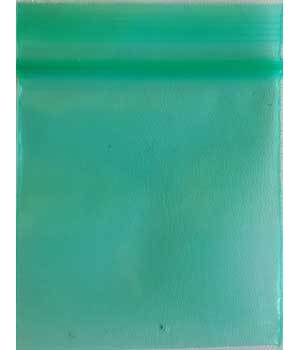 "Green Resealable bags 2"" x 2"" 100/pkg 2.5mil"