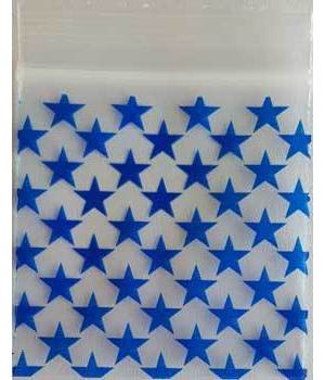 "Blue Stars Resealable bags 2"" x 2"" 100/pkg 2.5mil"