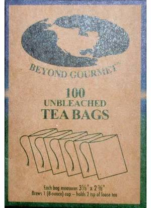 "2 3/8""x 3 1/8"" 100pk Paper Tea Bags"