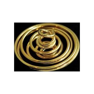 """1"""" x 7/8"""" Gold Plated Coil"""
