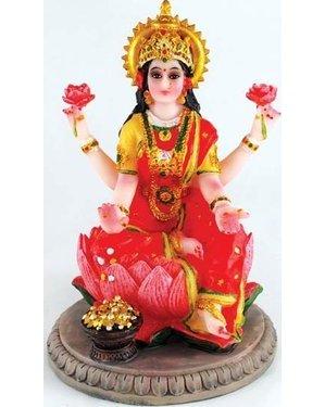 """Laxmi On Lotus 5"""" Statue"""