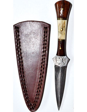 """7"""" Baby Stag Damascus athame"""