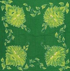 Green Man Altar Cloth 3' x 3'