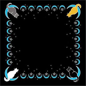 "Moon Cat altar cloth or scarve 36"" x 36"""