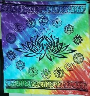 "36"" x 36"" Chakra Lotus Altar Cloth"