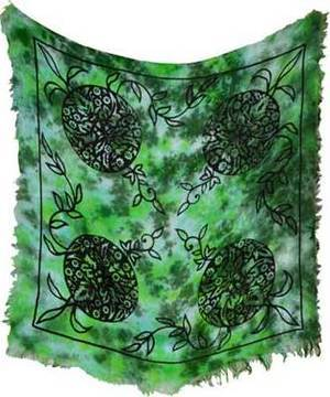"Green Man Altar Cloth 18"" x 18"""