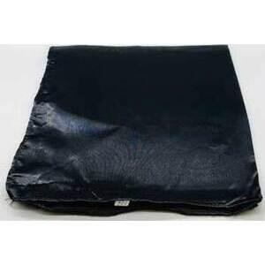 "21"" x 21"" Black Satin altar cloth"