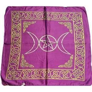 "18"" x 18"" Purple Rayon Triple Moon Cloth"