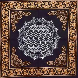 "18""x18"" Flower of Life altar cloth"