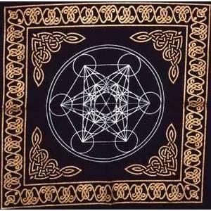"""18""""x18"""" Metatrons Cube altar cloth"""