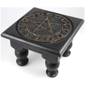 "6"" x 6"" Pentagram Altar Table"