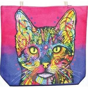 """14"""" x 16"""" Cat jute tote bag"""