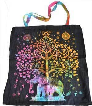 "18"" x 18"" Elephant Tote Bag"