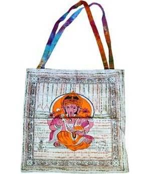 "18"" x 18"" Ganesha tote bag"