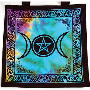 Triple Moon Pentagram Tote Bag