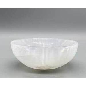 "4"" Selenite Oval bowl"