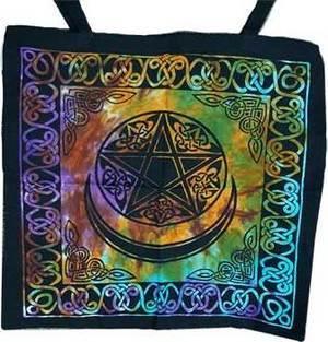 """18"""" x 18"""" Triple Moon Tote Bag"""