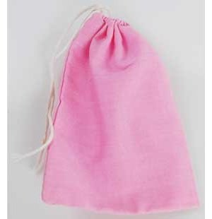 "Pink Cotton Bag 3"" x 4"""