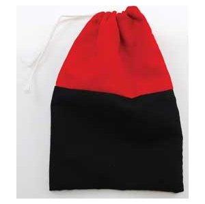 Reversing Red & Black Cotton Bag