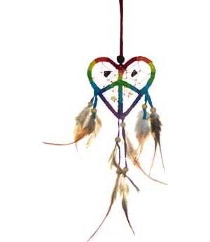 """3"""" Love Peace Dream Catcher"""