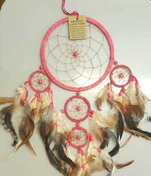 "6 1/4"" Fuchsia Dream Catcher"