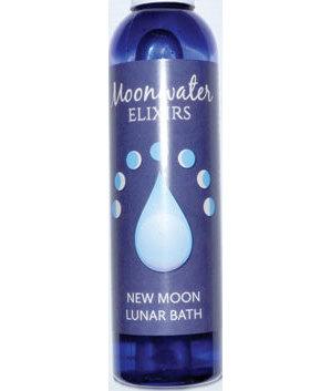 8oz New Moon bath oil moonwater elixir