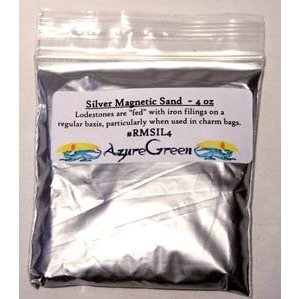 Silver Magnetic Sand 4oz
