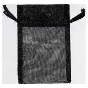 "2 3/4"" x 3"" Black Organza Bag"