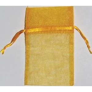 "2 3/4"" x 3"" Gold Organza Bag"