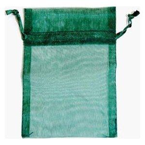 "2 3/4"" x 3"" Green Organza Bag"