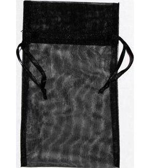 "4"" x 5"" Black Organza Bag"
