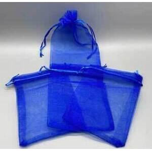 "100 pack 4"" x 6"" Blue organza bag"