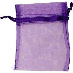 "2 3/4"" x 3"" Purple Organza Bag"