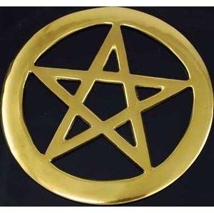 """Brass Cut-Out Pentagram 4"""""""