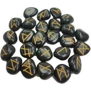 Black Agate rune set